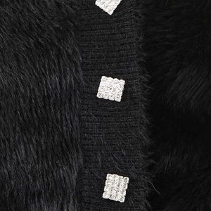 vogue vice boutique Tops - NWT rhinestone faux fur cardigan